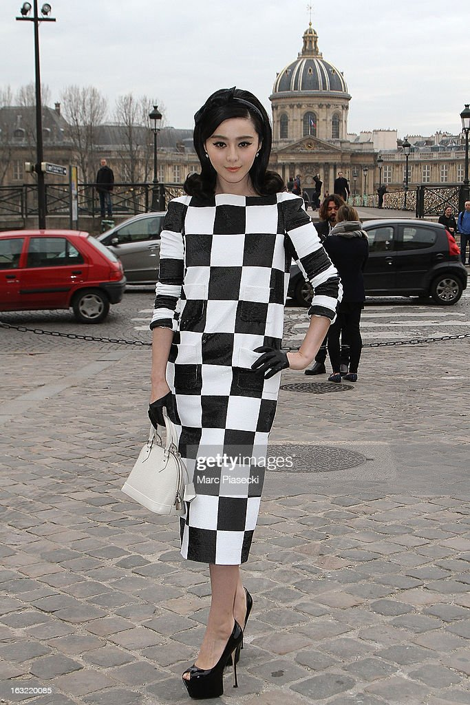 Fan Bing Bing arrives to attend the 'Louis Vuitton' Fall/Winter 2013 Ready-to-Wear show as part of Paris Fashion Week on March 6, 2013 in Paris, France.