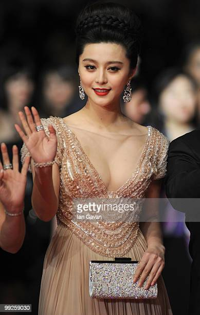 Fan Bing Bing attends the 'Chongqing Blues' Premiere at the Palais des Festivals during the 63rd Annual Cannes Film Festival on May 13 2010 in Cannes...