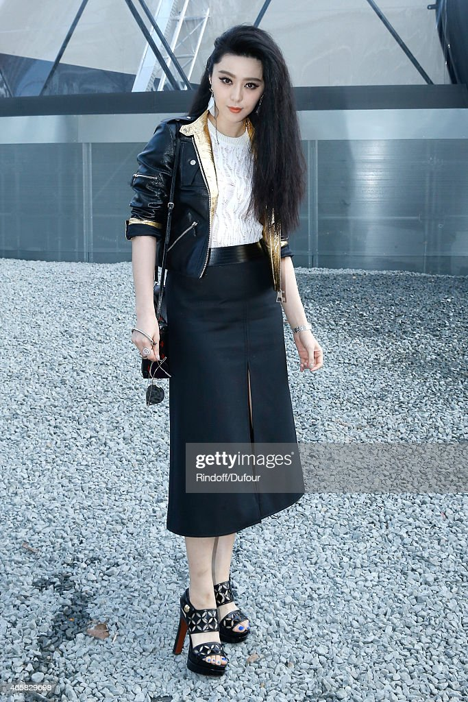 Fan Bing Bing attends the Louis Vuitton show as part of the Paris Fashion Week Womenswear Fall/Winter 2015/2016 on March 11 2015 in Paris France