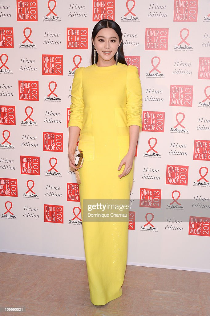 Fan Bing Bing attends the Sidaction Gala Dinner 2013 at Pavillon d'Armenonville on January 24, 2013 in Paris, France.