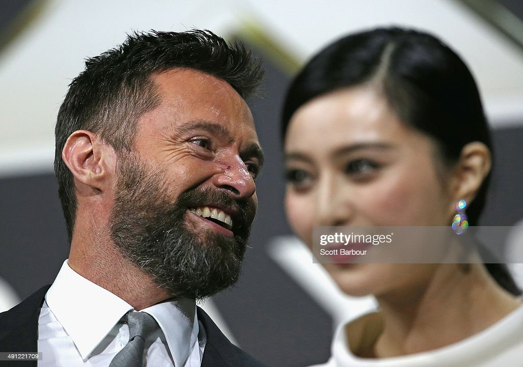 Fan Bingbing and <a gi-track='captionPersonalityLinkClicked' href=/galleries/search?phrase=Hugh+Jackman&family=editorial&specificpeople=202499 ng-click='$event.stopPropagation()'>Hugh Jackman</a> arrive at the Australian premiere of 'X-Men: Days of Future Past' on May 16, 2014 in Melbourne, Australia.