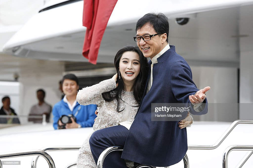 Fan Bingbing and <a gi-track='captionPersonalityLinkClicked' href=/galleries/search?phrase=Jackie+Chan&family=editorial&specificpeople=171455 ng-click='$event.stopPropagation()'>Jackie Chan</a> at the 66th Annual Cannes Film Festival on May 16, 2013 in Cannes, France.