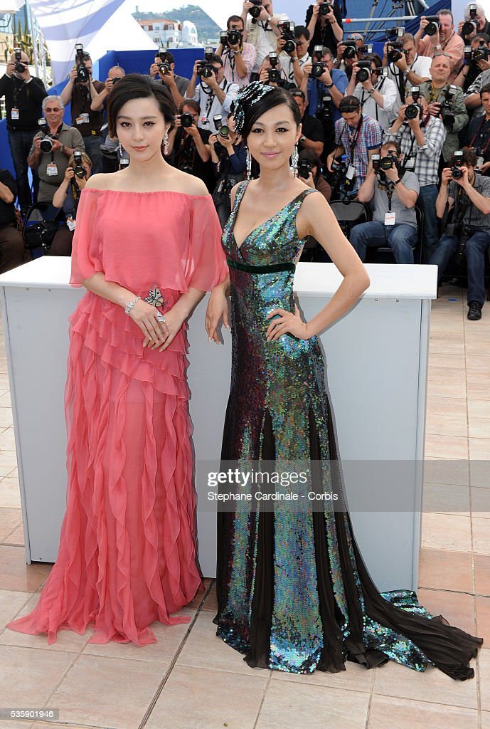 Fan BingBing and Li Feier at the Photocall for 'Chongqing Blues' during the 63rd Cannes International Film Festival.