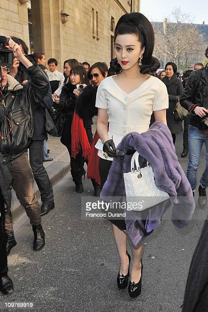 Fan Bingbing arrives for the Christian Dior Ready to Wear Autumn/Winter 2011/2012 show during Paris Fashion Week at Musee Rodin on March 4 2011 in...