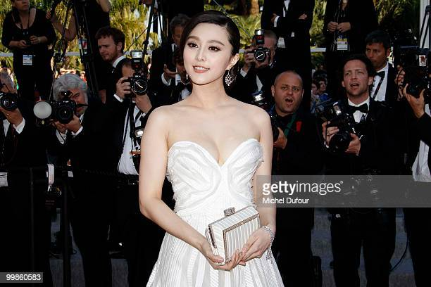 Fan Bingbing attends 'Biutiful' Premiere at the Palais des Festivals during the 63rd Annual Cannes Film Festival on May 17 2010 in Cannes France