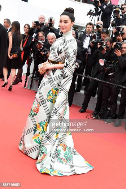 Fan Bingbing attends the 'Amant Double ' premiere during the 70th annual Cannes Film Festival at Palais des Festivals on May 26 2017 in Cannes France