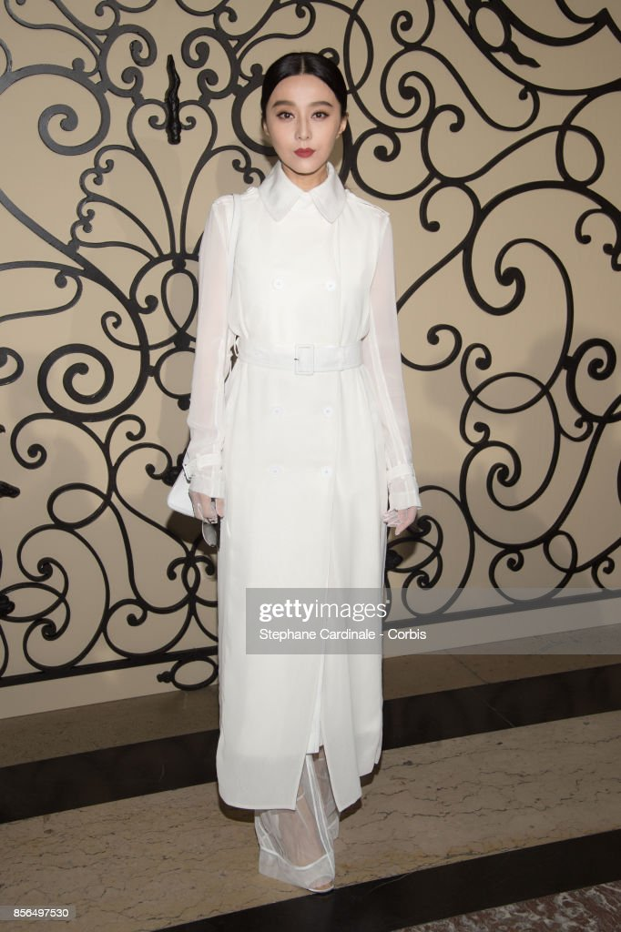 Fan Bingbing attends the Givenchy show as part of the Paris Fashion Week Womenswear Spring/Summer 2018 at on October 1, 2017 in Paris, France.