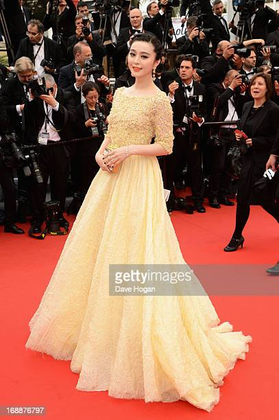 Fan Bingbing attends the 'Jeune Jolie' premiere during The 66th Annual Cannes Film Festival at the Palais des Festivals on May 16 2013 in Cannes...