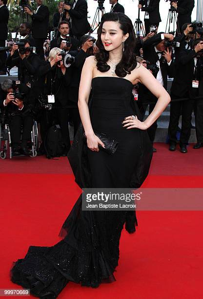 Fan Bingbing attends the 'Of Gods and Men' Premiere held at the Palais des Festivals during the 63rd Annual International Cannes Film Festival on May...