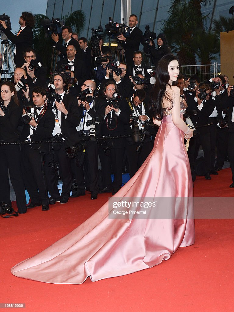 Fan Bingbing attends the Opening Ceremony and Premiere of 'The Great Gatsby' at The 66th Annual Cannes Film Festival at Palais des Festivals on May 15, 2013 in Cannes, France.>>