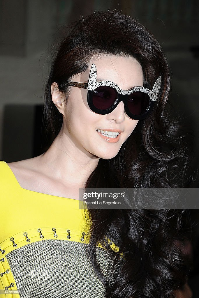 Fan Bingbing attends the Versace Haute-Couture show as part of Paris Fashion Week Fall / Winter 2012/13 at the Ritz hotel on July 1, 2012 in Paris, France.