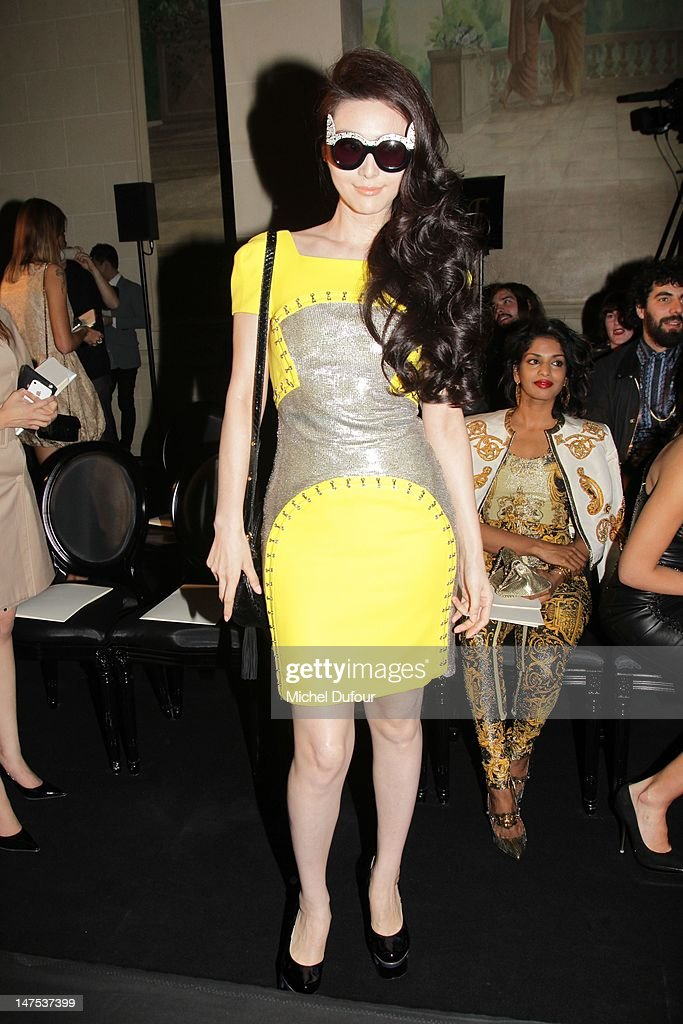 Fan Bingbing attends the Versace Haute-Couture Show as part of Paris Fashion Week Fall / Winter 2012/13 on July 1, 2012 in Paris, France.