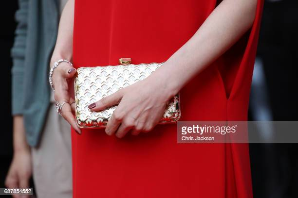 Fan Bingbing bag detail attends the 'The Beguiled' screening during the 70th annual Cannes Film Festival at Palais des Festivals on May 24 2017 in...