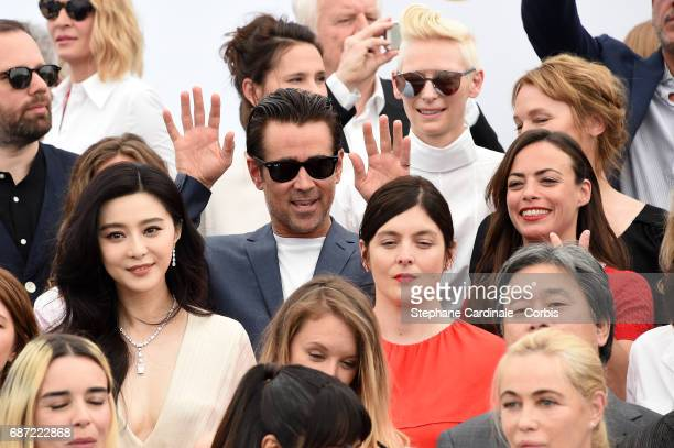 Fan Bingbing Colin Farrell Tilda Swinton and Berenice Bejo attend the 70th Anniversary photocall during the 70th annual Cannes Film Festival at...