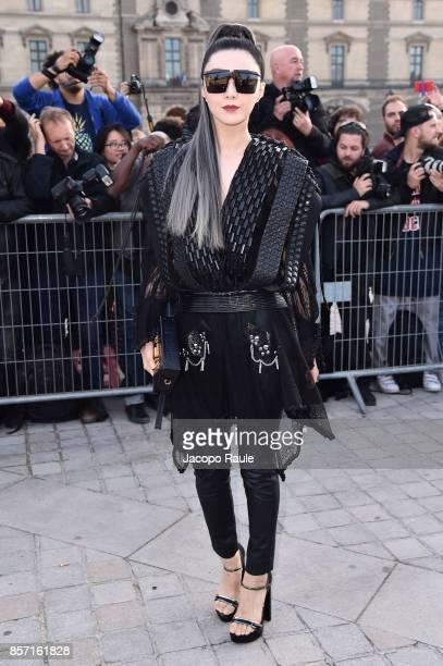 Fan Bingbing is seen arriving at Louis Vuitton show during Paris Fashion Week Womenswear Spring/Summer 2018 on October 3 2017 in Paris France