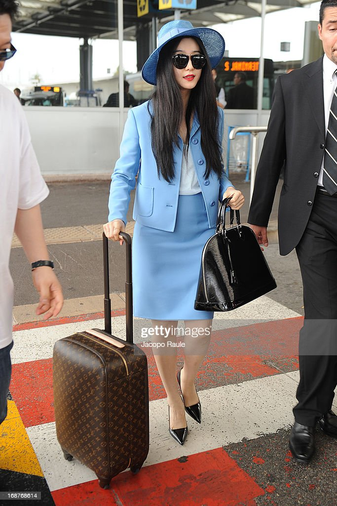 Fan Bingbing is seen arriving at Nice airport during The 66th Annual Cannes Film Festival on May 15, 2013 in Nice, France.