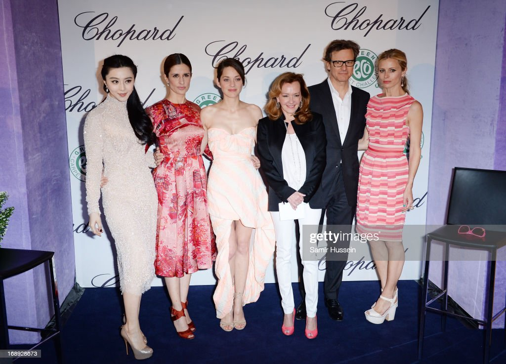 Fan Bingbing, Livia Firth, Co-President of Chopard Caroline Gruosi-Scheufel, <a gi-track='captionPersonalityLinkClicked' href=/galleries/search?phrase=Marion+Cotillard&family=editorial&specificpeople=215303 ng-click='$event.stopPropagation()'>Marion Cotillard</a>, <a gi-track='captionPersonalityLinkClicked' href=/galleries/search?phrase=Colin+Firth&family=editorial&specificpeople=201620 ng-click='$event.stopPropagation()'>Colin Firth</a> and <a gi-track='captionPersonalityLinkClicked' href=/galleries/search?phrase=Laura+Bailey+-+Model&family=editorial&specificpeople=202040 ng-click='$event.stopPropagation()'>Laura Bailey</a> attend the Chopard Lunch during the 66th Annual Cannes Film Festival on May 17, 2013 in Cannes, France.