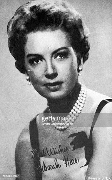 Fan club photo of Deborah Kerr 1950