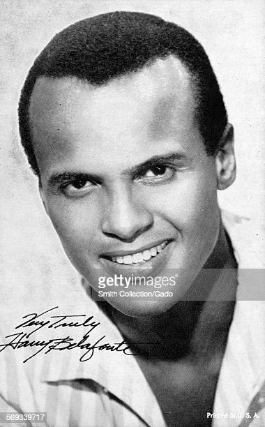 Fan club photo of musician and actor Harry Belafonte 1943
