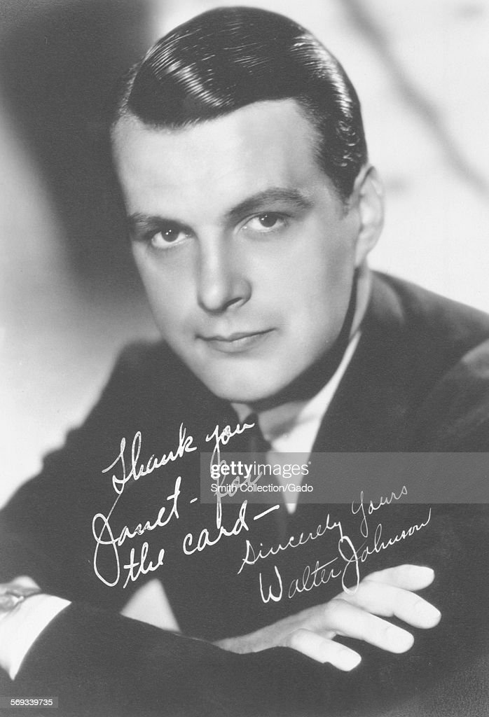 Fan club photo of Walter Johnson 1936