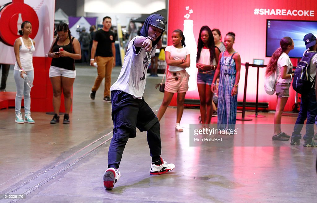 Fan dances at the Fan Fest during the 2016 BET Experience on June 26, 2016 in Los Angeles, California.