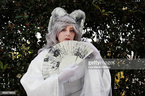 Fan Domi Fisher poses during The SMASH Sydney Manga and Anime Show at Rosehill Gardens on August 8 2015 in Sydney Australia