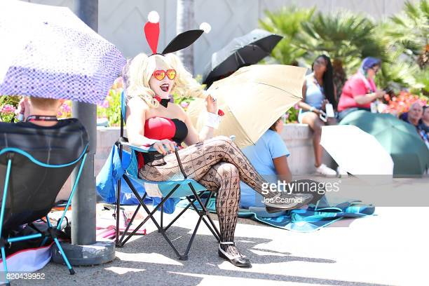 A fan dressed in cosplay attends 2017 ComicCon International on July 21 2017 in San Diego California