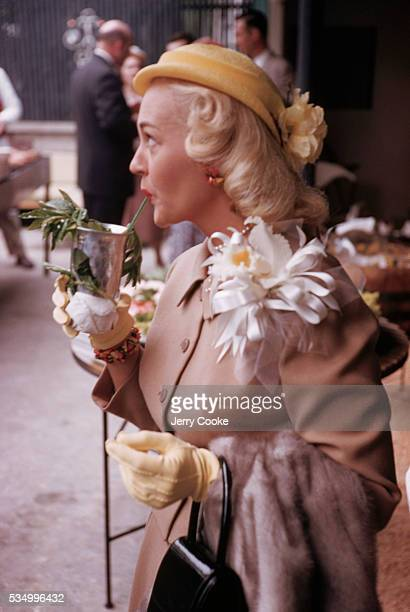 Fan Drinking a Mint Julep at Churchill Downs