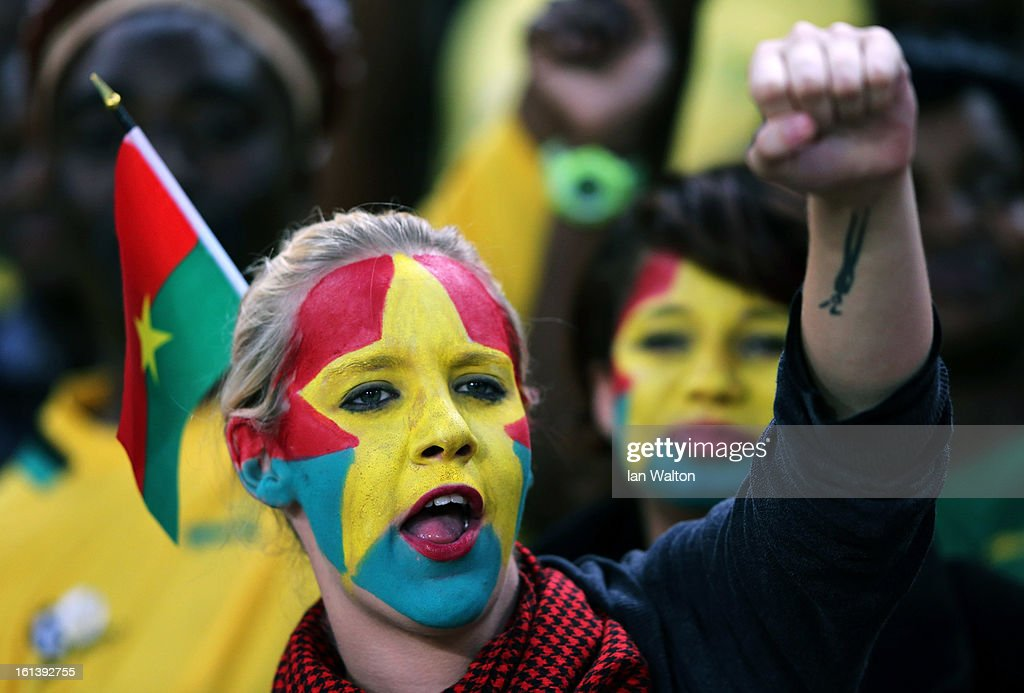A fan during the 2013 Africa Cup of Nations Final match between Nigeria and Burkina at FNB Stadium on February 10, 2013 in Johannesburg, South Africa.