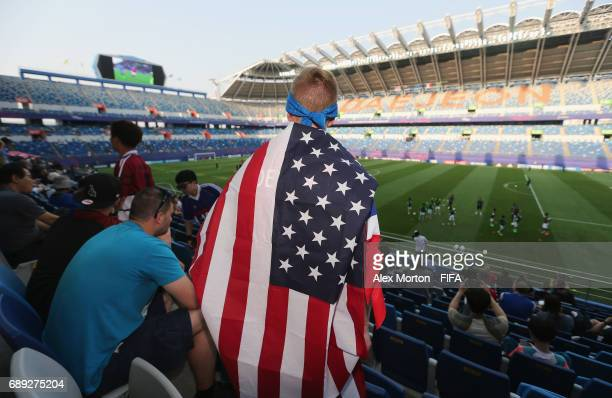 USA fan during the FIFA U20 World Cup Korea Republic 2017 group F match between USA and Saudi Arabia at Daejeon World Cup Stadium on May 28 2017 in...