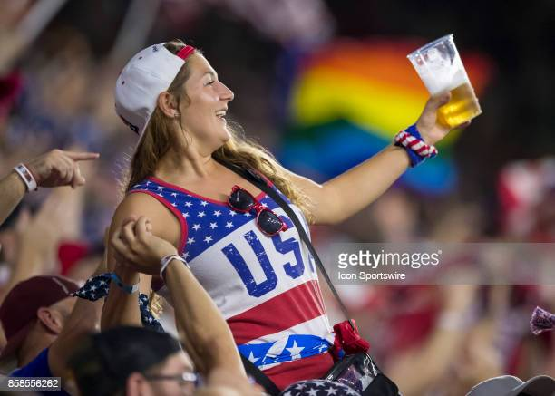 USA fan during the World Cup Qualifier soccer match between the USA Mens National Team and Panama National Team on September 6 2017 at Orlando City...