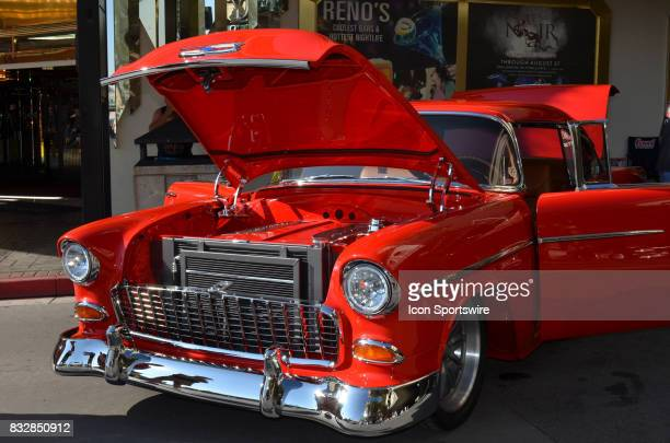 Fan favorite 1955 Chevy Bel Air on display at the Hot August Nights Custom Car Show the largest nostalgic car show in the world on August 11 2017...