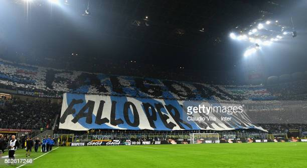 Fan FC Internazionale during the Serie A match between FC Internazionale and AC Milan at Stadio Giuseppe Meazza on October 15 2017 in Milan Italy