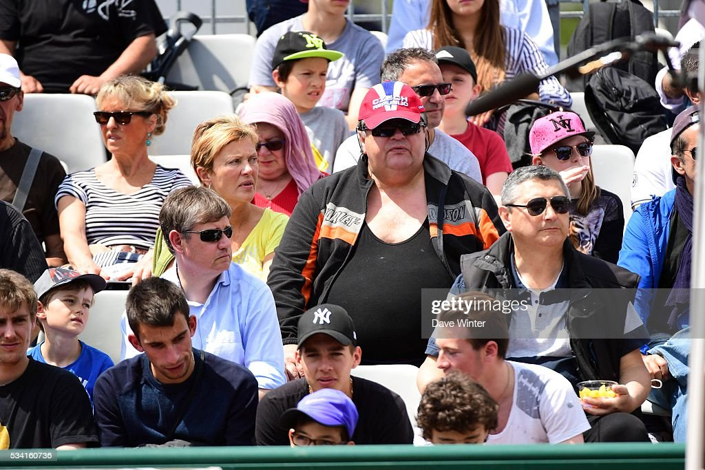 Fan from the Czech Republic during the Men's Singles second round on day four of the French Open 2016 at Roland Garros on May 25, 2016 in Paris, France.