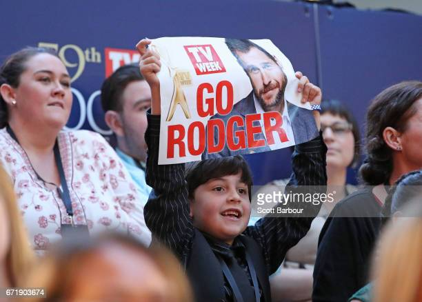 A fan in the crowd of Rodger Corser at the 59th Annual Logie Awards at Crown Palladium on April 23 2017 in Melbourne Australia