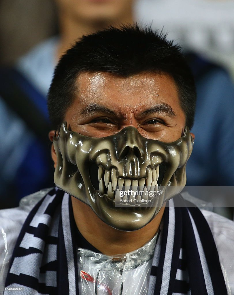 A fan looks on during the Barclays Asia Trophy Semi Final match between Tottenham Hotspur and Sunderland at Hong Kong Stadium on July 24, 2013 in So Kon Po, Hong Kong.