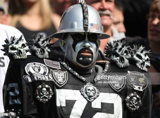 A fan looks on during the Detroit Lions and the Oakland Raider NFL game on September 9 2007 at McAfee Coliseum in Oakland California