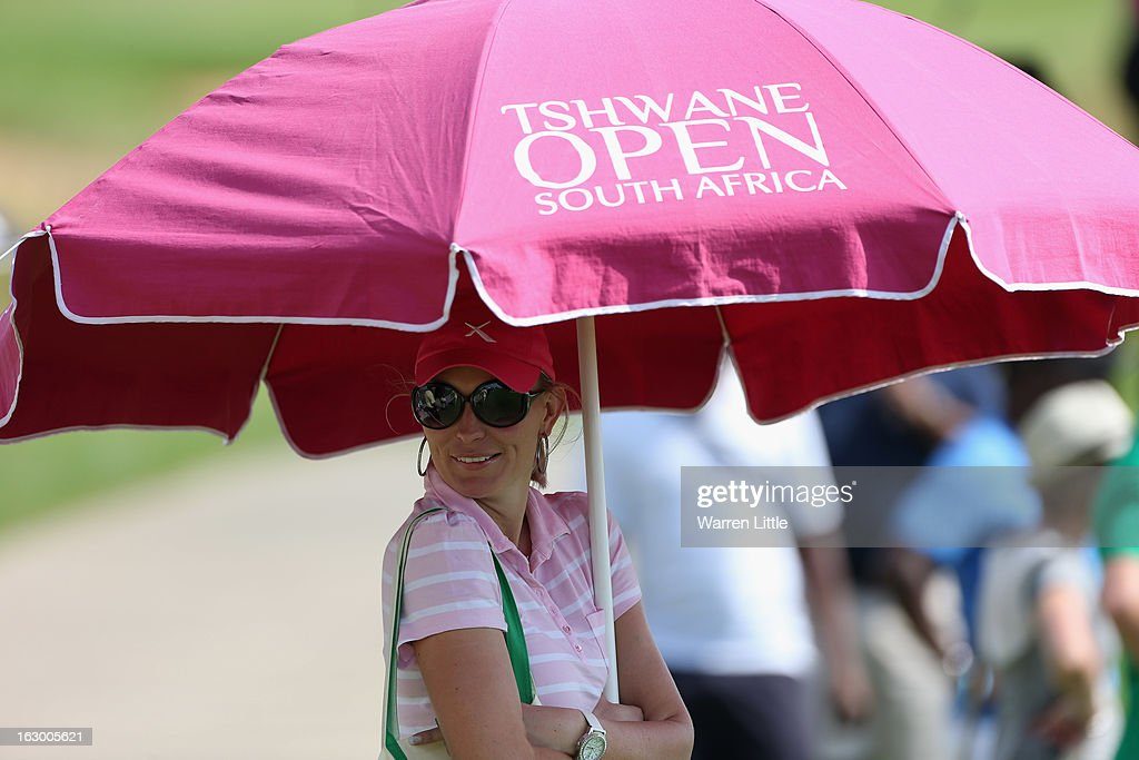 A fan looks on during the final round of the Tshwane Open at Copperleaf Golf & Country Estate on March 3, 2013 in Centurion, South Africa.