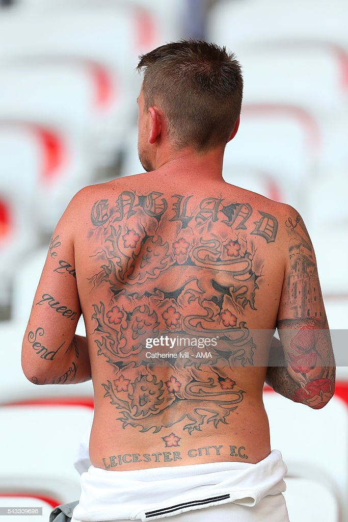 A fan of England looks on prior to the UEFA Euro 2016 Round of 16 match between England and Iceland at Allianz Riviera Stadium on June 27, 2016 in Nice, France.