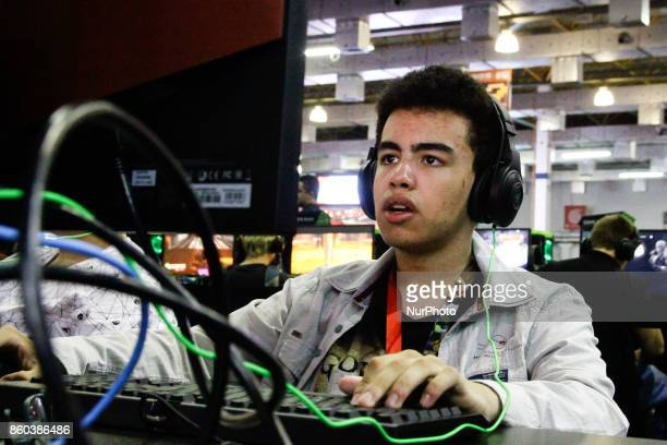 Fan of games participate in the 10th edition of Brazil Game Show in São Paulo this on 11 October 2017 Held for the first time in 2009 in Rio de...