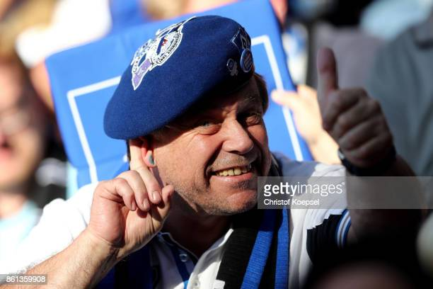A fan of Hamburger SV is seen during the Bundesliga match between 1 FSV Mainz 05 and Hamburger SV at Opel Arena on October 14 2017 in Mainz Germany...