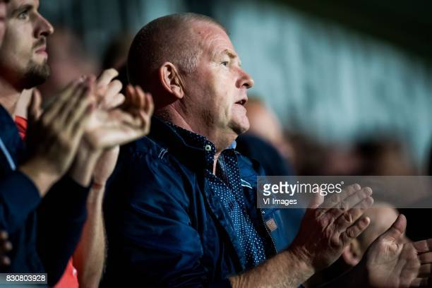fan of Heracles applauding for Abdelhak Nouri of Ajax during the Dutch Eredivisie match between Heracles Almelo and Ajax Amsterdam at Polman stadium...