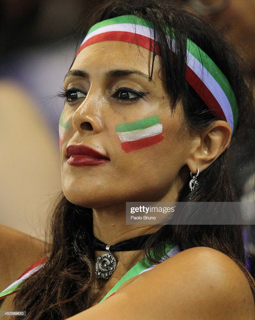Fan of Iran looks on during the FIVB World League Final Six semifinal match between Iran and United States at Mandela Forum on July 19, 2014 in Florence, Italy.
