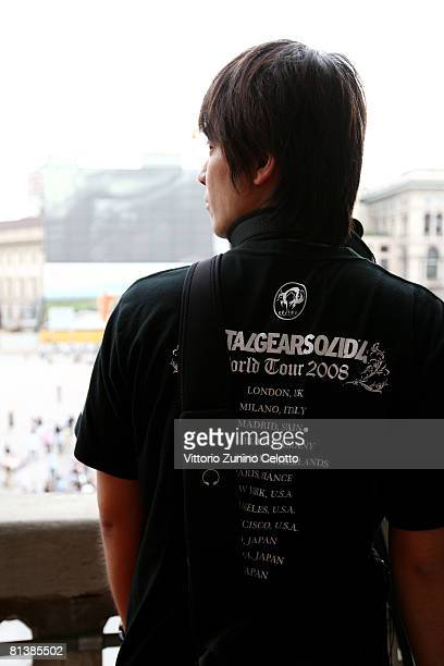 A fan of Metal Gear Solid 4 Guns of The Patriots Game at Terrazza Autogrill Piazza Duomo on June 3 2008 in Milan Italy