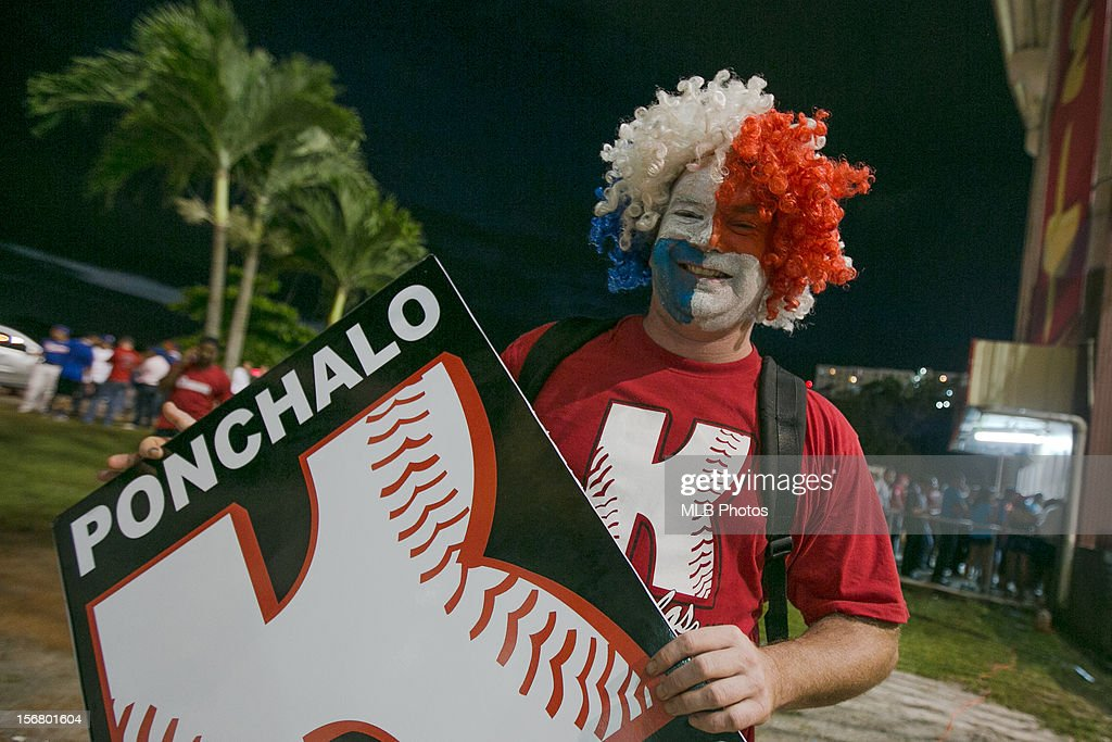 Fan of of Team Panama is seen outside Rod Carew National Stadium before Game 6 of the Qualifying Round of the World Baseball Classic between Team Panama and Team Brazil at Rod Carew National Stadium on Monday, November 19, 2012 in Panama City, Panama.