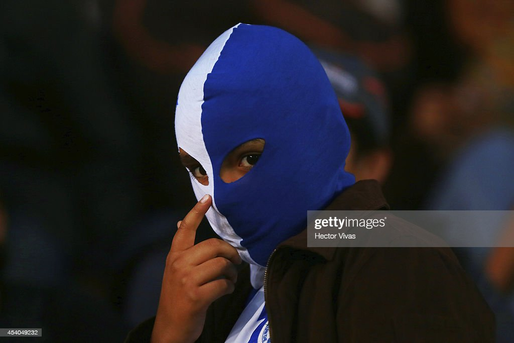 Fan of Pachuca looks on during a match between Pachuca and Atlas as part of 6th round Apertura 2014 Liga MX at Hidalgo Stadium on August 23, 2014 in Pachuca, Mexico.