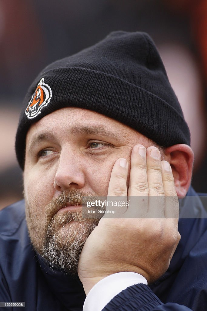 A fan of the Cincinnati Bengals watches on as his team loses during the game against the Denver Broncos at Paul Brown Stadium on November 4, 2012 in Cincinnati, Ohio. The Broncos defeated the Bengals 31-23.