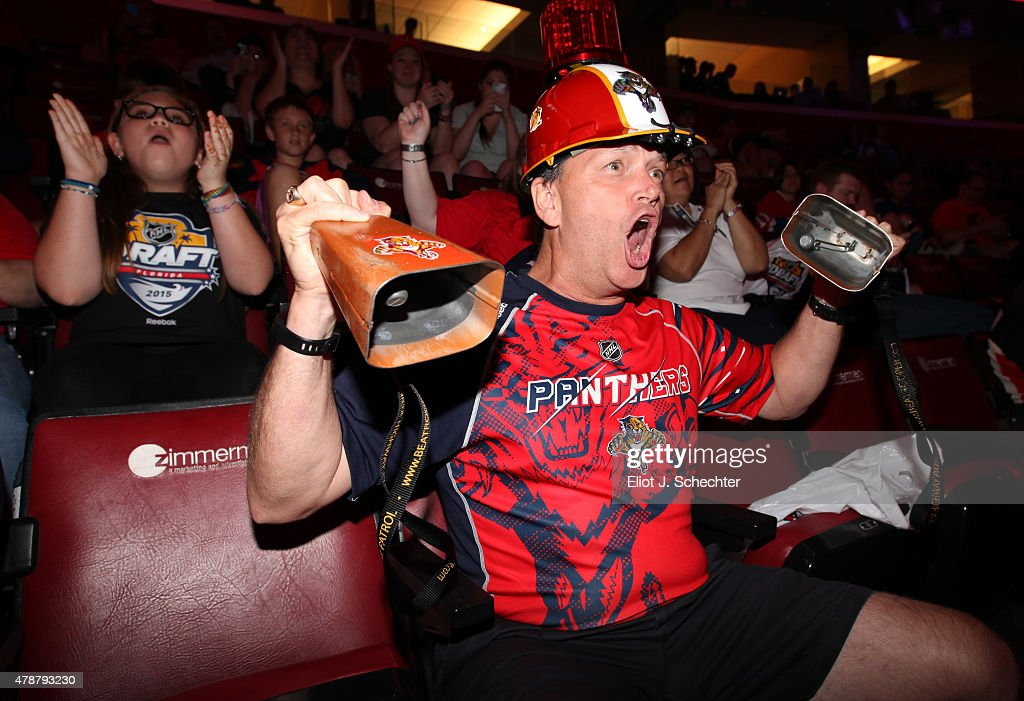 A fan of the Florida Panthers shows his support during the 2015 NHL Draft at BB&T Center on June 27, 2015 in Sunrise, Florida.