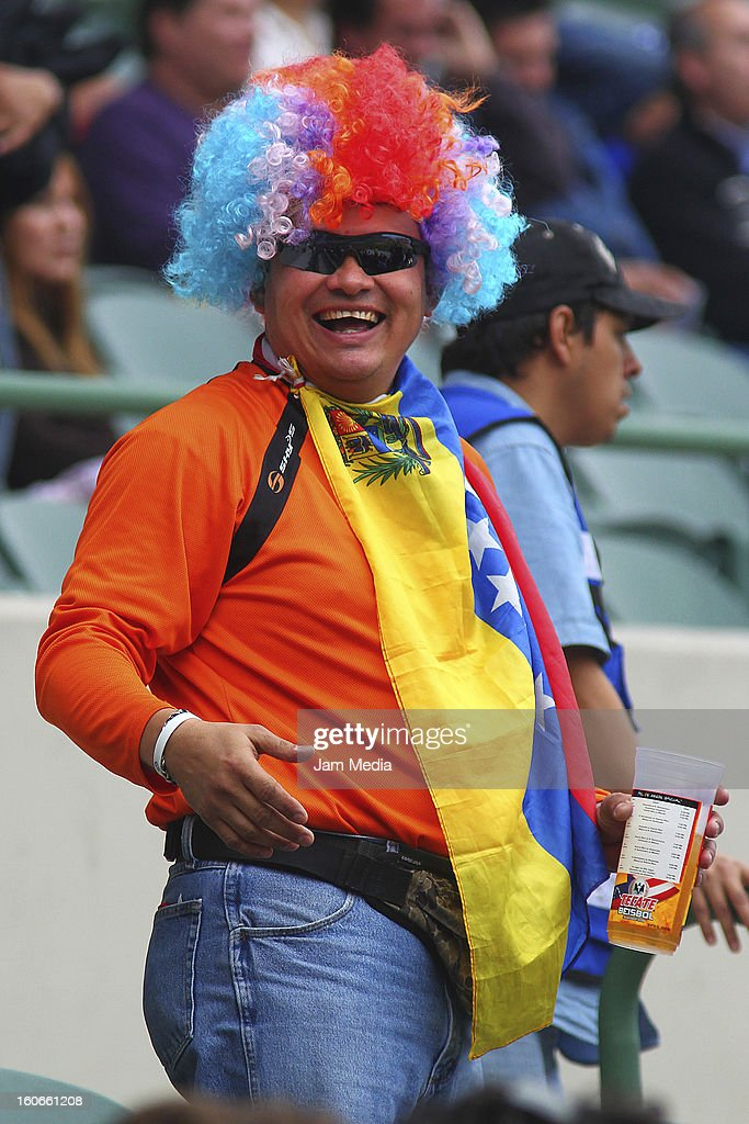 Fan of Venezuela support his team during the Caribbean Series 2013 at Sonora Stadium on February 03, 2013 in Hermosillo, Mexico.