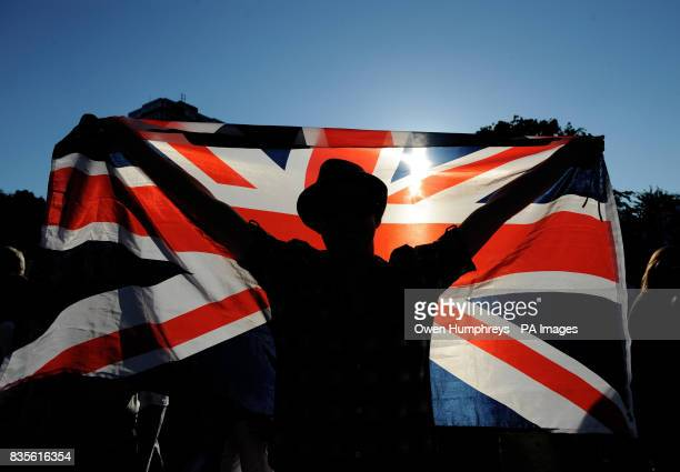 A fan on Murray Mount as Andy Murray plays USA's Robert Kendrick during the 2009 Wimbledon Championships at the All England Lawn Tennis and Croquet...